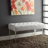 Silver Orchid Jordan White Crystal Bench  Retail 159 49