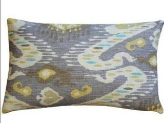Set of 2 Pillow Decor   Solo Gray Ikat Throw Pillow 12x20
