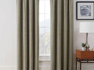 Set of 2 Brookstone Harvey 100 Percent Blackout Window Curtain Panel