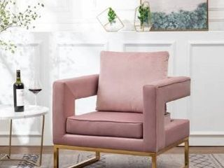 lenola Contemporary Upholstered Accent Arm Chair  Retail 254 99
