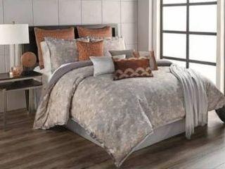 Porch   Den Shem Grey Abstract Pattern 12 piece Comforter Set  Retail 165 49