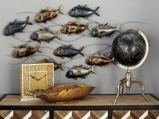 Copper Grove Sharbot Metal Fish Wall Decor  Retail 115 49