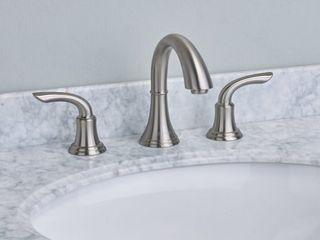 EVIVA Friendy Widespread Bathroom Faucet in Brushed Nickel  Retail 186 98