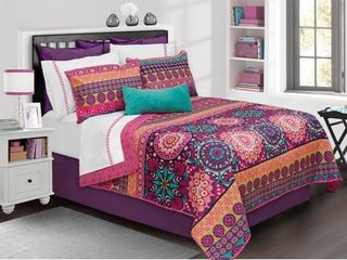 Aiyana Printed Quilt Set   Twin