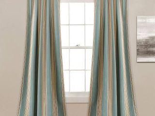 lush Decor Julia Striped Room Darkening Window Curtain Panel Pair   52 W x 84 l   52 W x 84 l