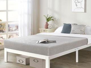 Twin size Heavy Duty Bed Frame Steel Slat Platform Series Titan E   White  Retail 139 49