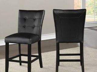 Porch   Den Merkem Faux leather Side Chair   Set of 2  Retail 163 99