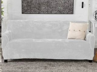 Camellia Collection Velvet Plush Form Fit Stretch Sofa Slipcover