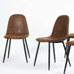 Carbon loft Sirola Mid century 2 piece Dining Chairs
