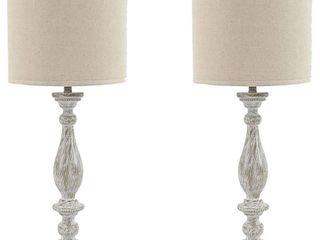 Bernadate Whitewash 31 Inch Table lamps   Set of 2  Retail 163 49