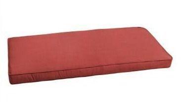Sunbrella Terra Cotta indoor outdoor 48  bench cushion