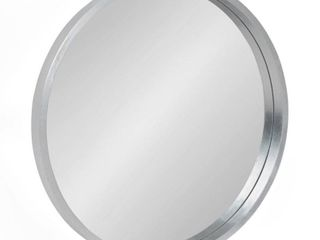 Kate and laurel Travis Round Wood Accent Wall Mirror