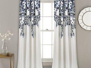 Porch   Den Elcaro Floral Room Darkening Window Curtain Panel Pair  Retail 79 98