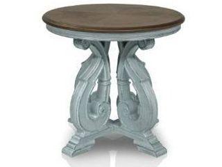 Furniture of America Roah Transitional Dark Oak Solid Wood End Table  Retail 415 62