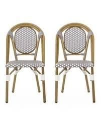 Remi Outdoor French Bistro Chairs  Set of 2  by Christopher Knight Home  Retail 177 99