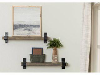 Del Hutson Designs Industrial Grace Bracket Shelf   24 Inch