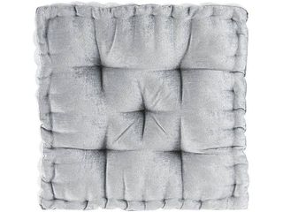 Set of 4 Gray Square Floor Pillow Cushion  20 x20