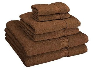 Superior 900 GSM Egyptian Cotton 6 Piece Towel Set  Retail 78 48