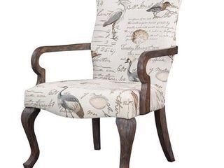 Madison Park Joni Ivory Multi Goose Neck Arm Chair  Retail 215 49