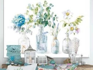 DesignArt  RW Beach Flowers I  Cottage Canvas Wall Art