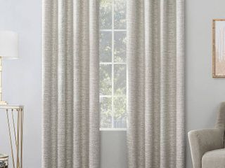Set of 2 Scott living Sinatra Dimensional Textured Total Blackout Grommet Curtain Panel