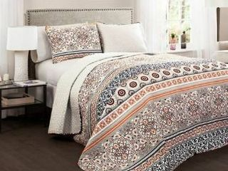 The Curated Nomad la Boheme Boho Stripe 3 piece Quilt Set  Retail 175 98