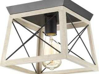 Briarwood Collection 1 light Graphite Flushmount Fixture