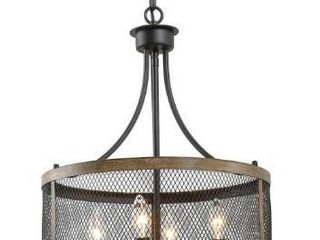 Rustic Chandelier 4 lights Kitchen Island lighting for Dining Room   W16 xH21  Retail 157 49