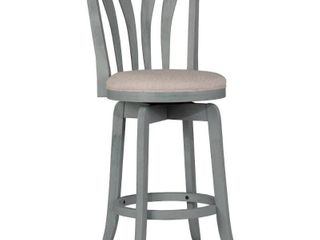 Savana Swivel Counter Height Barstool Blue Grey  Wirebrush Cream    Hillsdale Furniture 25 75