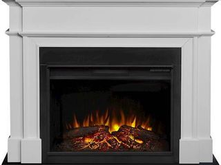 Harlan Grand Electric Fireplace in White  Only The Mantel Assembly  Fireplace Not Included  Retail 879 98