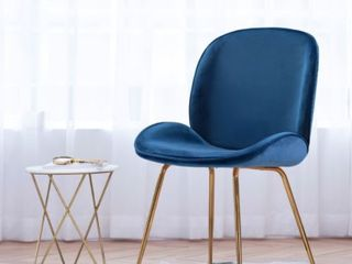 Art leon Beetle Design Velvet Dining Chair