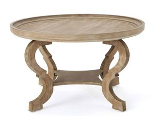 Althea Round Wood Coffee Table by Christopher Knight Home  Retail 168 99