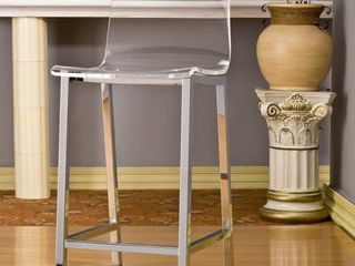 Pure Decor Clear Acrylic Counter Stool   Retail 336 99  Set Of 2