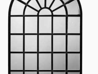 Arch Matte Black Framed Wall Mirror 32 X50  Retail  420 00