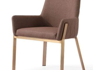 Modest Robin Modern Brown And Brass Dining Chair