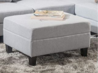Zahra Ottoman by Christopher Knight Home Gray