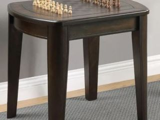 Darlington Game End Table With Chessboard by Greyson living