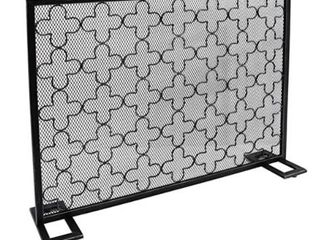 Alleghany Modern Single Panel Fireplace Screen