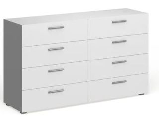 Porch   Den Angus Space saving Foiled Surface 8 drawer Double Dresser   Retail 247 99