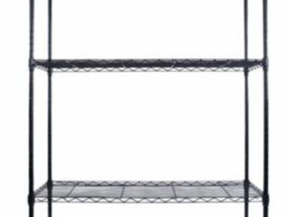5 layer Black Plastic Coated Iron Shelf