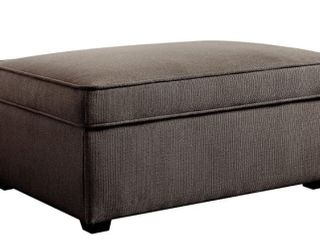 Serta Olin Ottoman with Storage  Ash Grey
