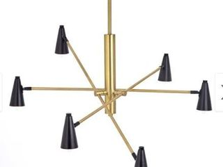 Martha Stewart Barrow 6 light Gold Black Chandelier  Retail 139 99