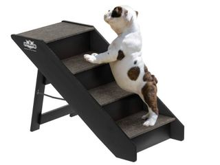 Foldable Pet Stairs Carpeted Wood Steps by PetMaker