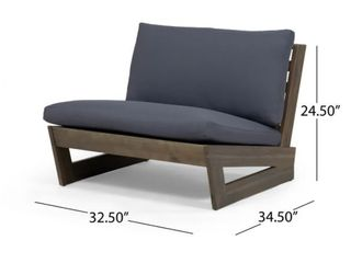 Sherwood Gray Outdoor Acacia Wood Club Chair by Christopher Knight Home