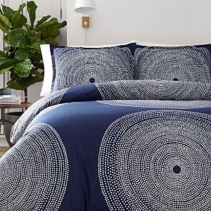 Marimekko Fokus Duvet Cover  amp  Sham Set  Size Full Queen   Blue