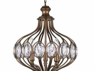 Copper Grove Ulez 6 light Antique Bronze Chandelier