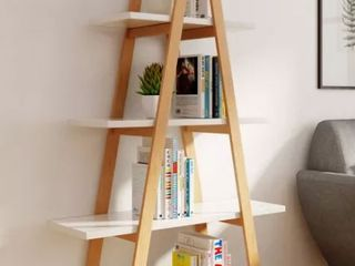 Abacus ladder Bookshelf Oak and White   Universal Expert