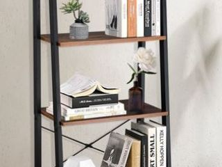 4 Tiers Industrial ladder Shelf  Vintage Bookshelf