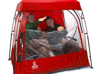CoverU Sports Shelter   Red 2 Person Weather Tent Pod  Retail 117 99