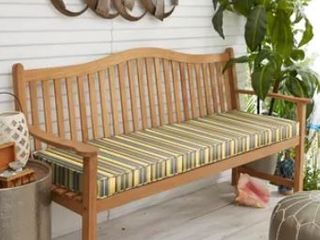 Sunbrella Yellow Grey Stripe Indoor Outdoor Cushion